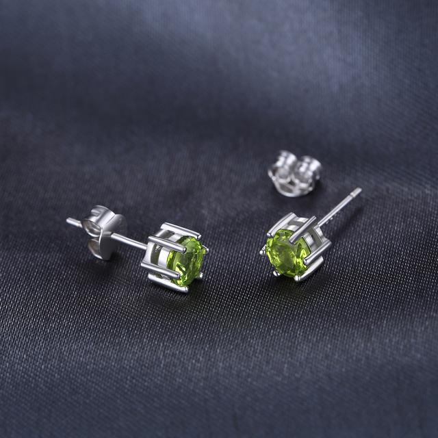 Peridot Stud Earrings
