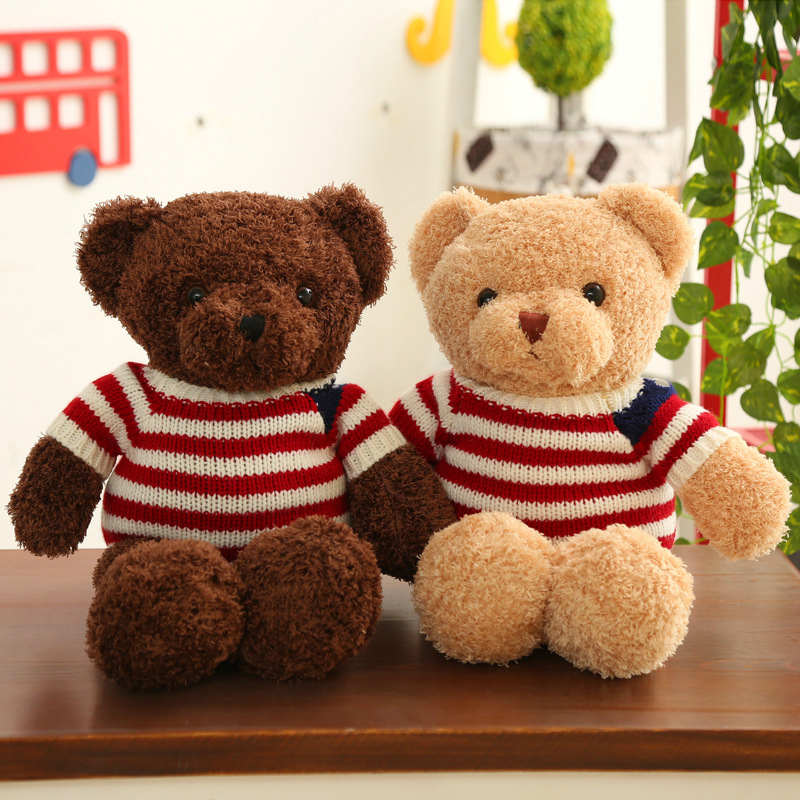 20/30cm New Bear Dolls Teddy Bear Stuffed Animals Fluffy Bear Dolls Toy Bear Wedding Gifts Baby Toy Birthday Gift Soft Toys