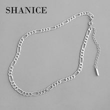 SHANICE INS Choker Korean S925 sterling silver necklace cold wind simple chain female clavicle neck chain personality chain
