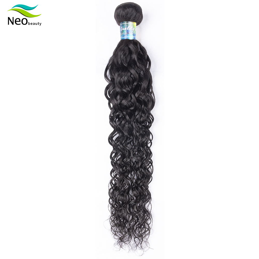 Neobeauty burmese  water wave hair  10A 100% human hair  22 inches curly hair for hair extension