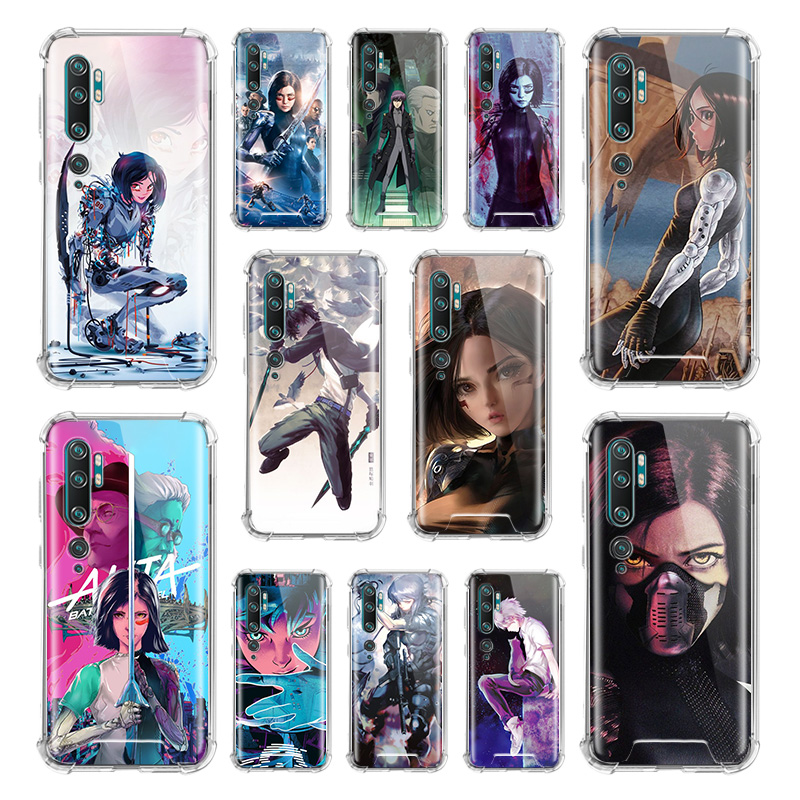 <font><b>Ghost</b></font> <font><b>In</b></font> <font><b>The</b></font> <font><b>Shell</b></font> <font><b>Case</b></font> for Xiaomi Mi Note 10 9 CC9 9T Pro 5G CC9E A2 Lite X2 Airbag Anti Fall TPU Phone Coque image
