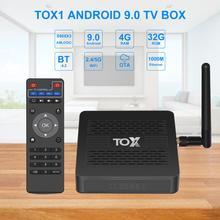 TOX1 Amlogic S905X3 Android 9.0 TV Box 4GB 32GB Set Top Box 2.4G 5G WiFi Bluetooth 1000M LAN 4K Media Player Dolby Atmos Sound