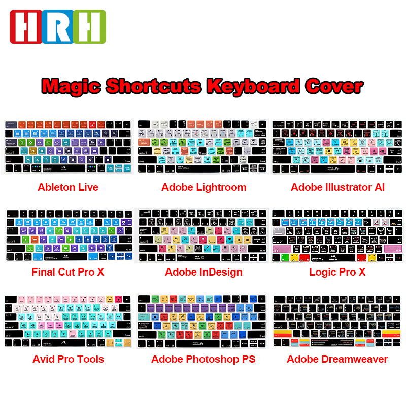 HRH Ableton Live Avid Pro Tools Final Cut Pro X PS Hot Key Functional Keyboard Cover Skin For Magic Keyboard MLA22B/A US