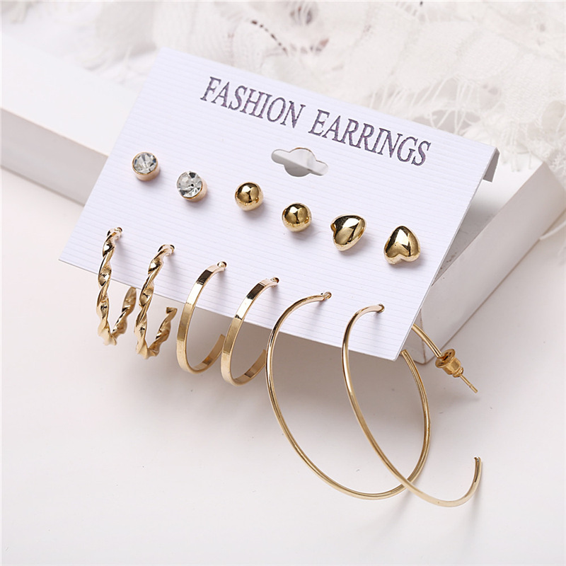 H450e2a440dfe4e26883509dbcc122ffa6 - IF ME Fashion Vintage Gold Pearl Round Circle Drop Earrings Set For Women Girl Large Acrylic Tortoise shell Dangle Ear Jewelry
