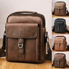 Men's Genuine Leather Bag Vintage Shoulder Fashion Cross Body Handbag Tote Messe