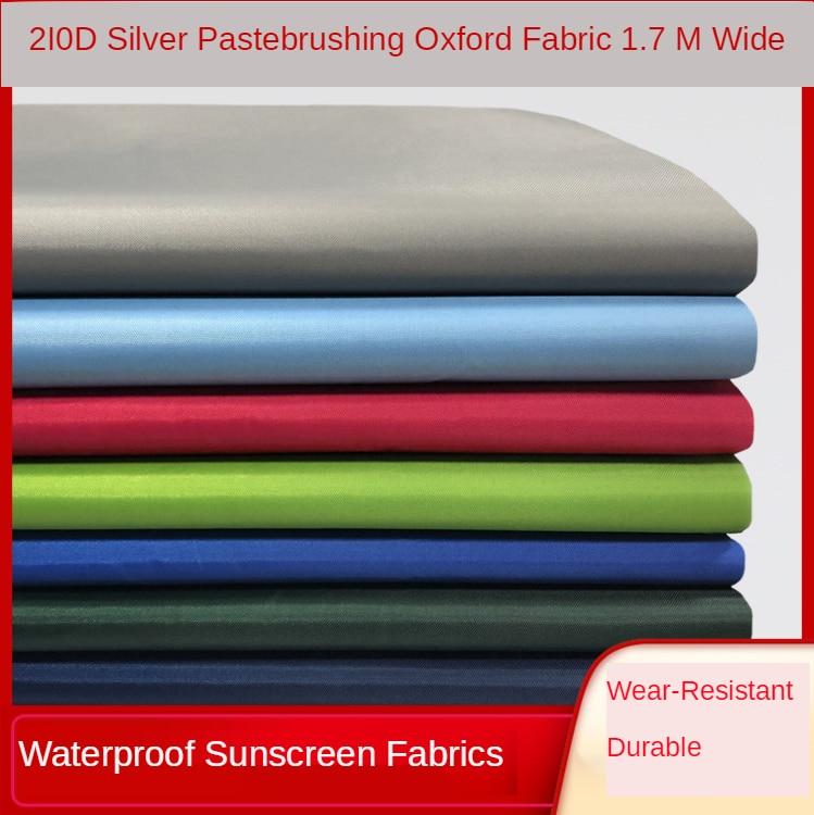 防水生地テントメーターによる210dオックスフォードオーニングリップストップ布ポリエステル織物屋外縫製日焼け傘diy