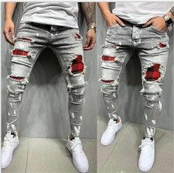 2021 New Fashion Streetwear Denim Jeans Men Pants Mens Skinny Joggers Ripped Man Zipper Hip Hop Harajuku Male Jeans Homme Denim