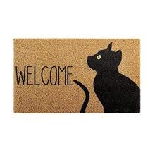 Gato entrada capacho bem-vindo tapete poliéster varanda tapete não deslizamento tapete de banho quarto decoração para casa