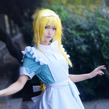 New Anime Sword Art Online Alicization SAO Alice Synthesis Thirty Cosplay Costume Maid Dress Halloween Costumes for Women S-XL 4