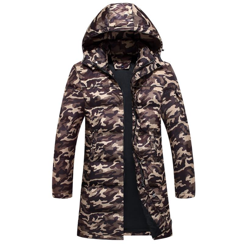Winter Jacket Men Camouflage Men's Down Jacket Large Size Puffer Long Coat Mens Clothing Parka Casaco Masculino KJ573
