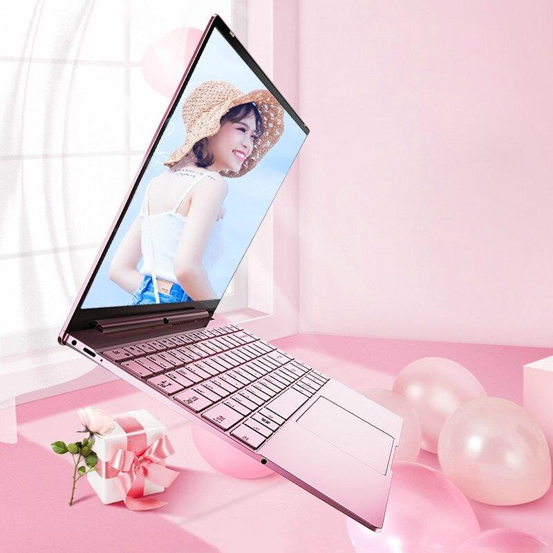 14'' Pink Laptop Notebook Computer Intel N3350 Backlit Keyboard 8GB 2.4G 5G Dual Wifi Gaming Laptops Windows 10 Pro Netbook-0