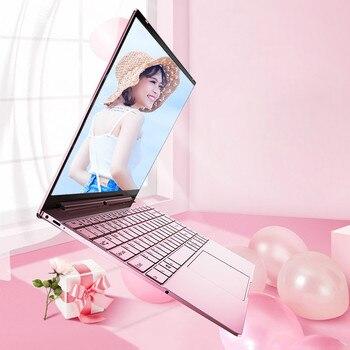 14'' Pink Laptop Notebook Computer Intel N3350 Backlit Keyboard 8GB 2.4G 5G Dual Wifi Gaming Laptops Windows 10 Pro Netbook