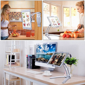 Image 5 - Besegad Tablet Desk Wall Stand Phone Holder Bracket Mount Rotatable for 5 10.5 inch iPhone iPad Huawei Xiaomi Notebook Support