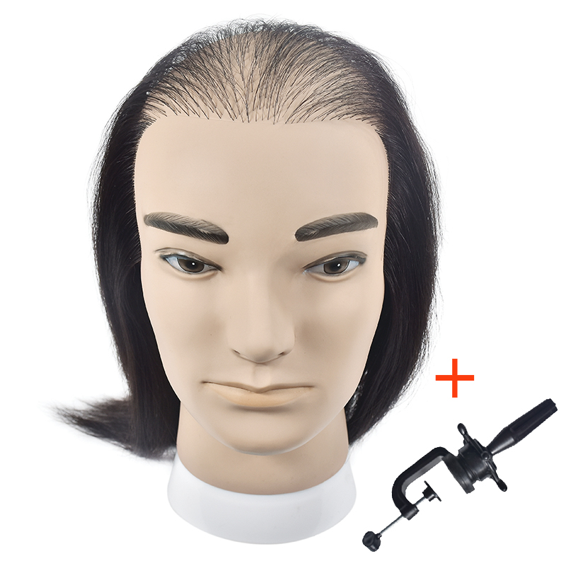 Free Shipping Male Mannequin Head With Human Hair For Wig Display Training Doll Head Hair Styles Practice Dressing