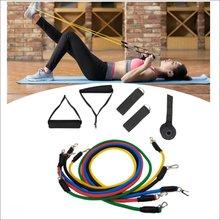 11 шт/компл Тяговая веревка фитнес упражнения резиночки Резиночки