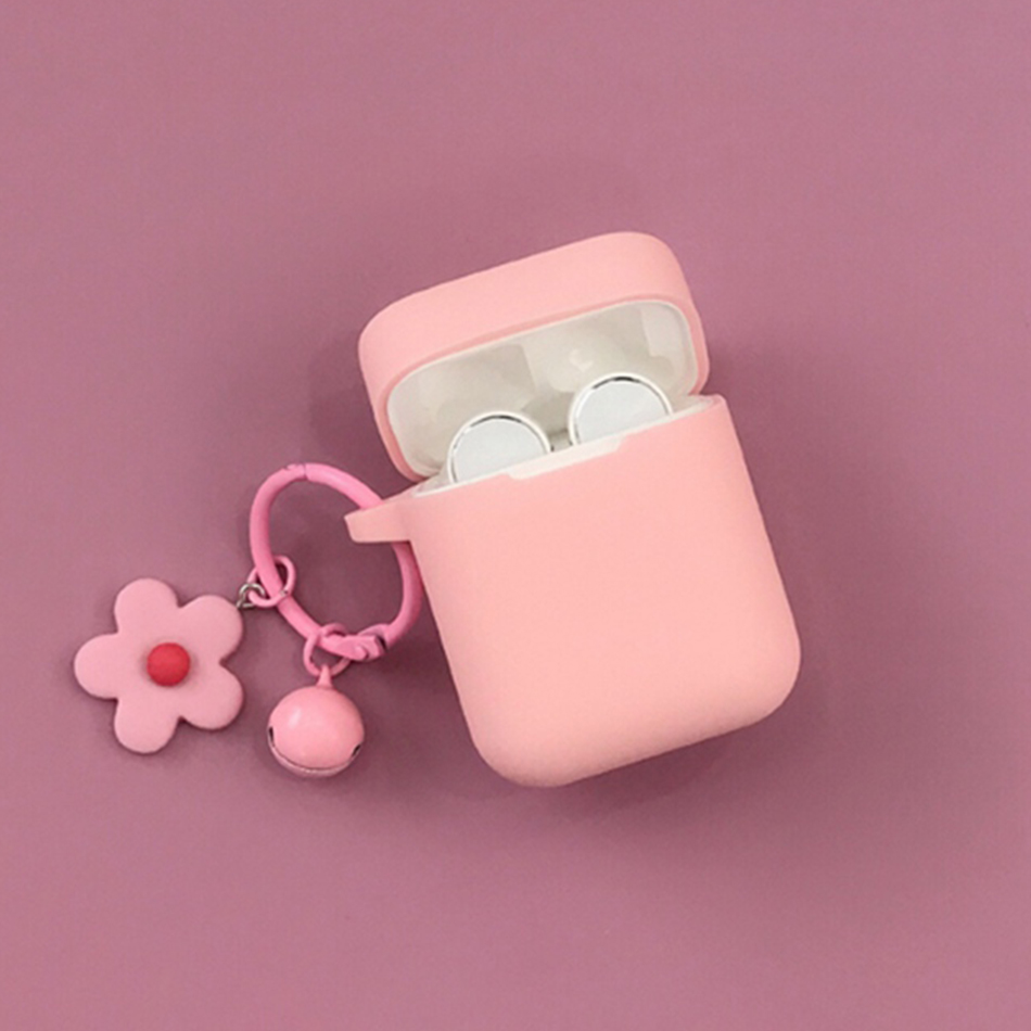 For Xiaomi Mi True /Airdots Pro Wireless Earphones Air Lite Case case fashion Flower Pendant with Keychain Silicone Cover