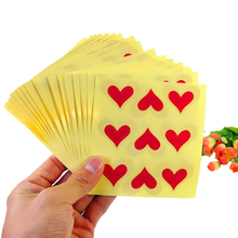90pcs/pack Red Love Seal Sticker Label Stickers For Gift Cake Baking Sealing Suppiles 90pcs pack for you candy color sealing sticker stationery gift bakery stickers cookies label supply