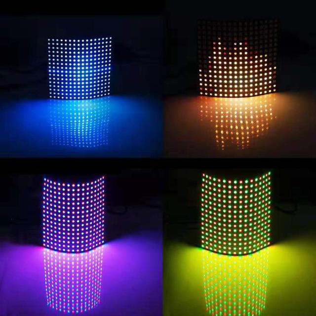 1 pcsDC5V 16x16 12 dot matrix RGB soft screen Pixel WS2812B LED Digital Flexible Individually addressable Panel light H3 007