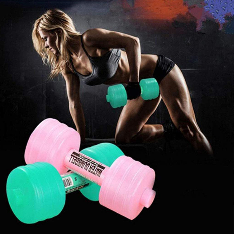 2PCS Fitness Dumbbell Shape Gym Sport Water Drink Cup Bottle Fitness Exercise Leakproof Portable Unbreakable Unisex