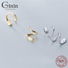 Ginin 925 стерлингового серебра серьги гвоздики для женщин японский