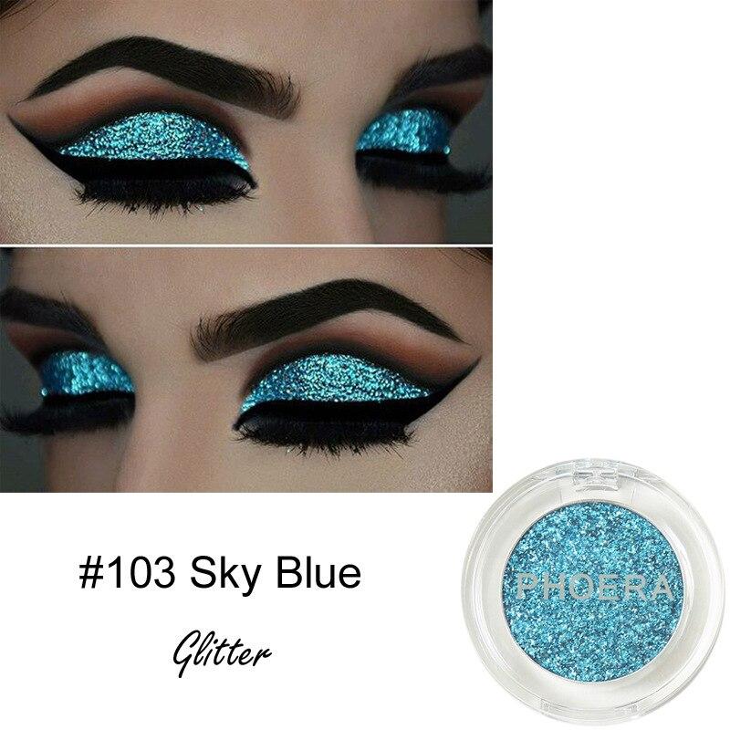PHOERA 12 Colors Glitter Eye Shadow Long Lasting Waterproof Metallic Sequins Pigment Silver Diamond Shining Eyeshadow TSLM2 2