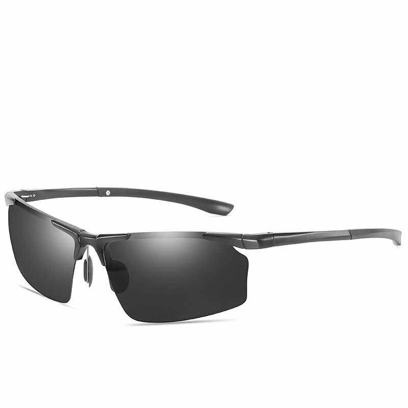 2019 Semi-Randlose Klassische Polarisierte Sonnenbrille Männer UV400 Spiegel Fahren Sonnenbrille Hohe Qualität Retro Anti-glare Brille