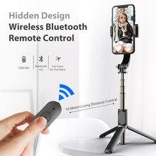 Q08 Selfie Stick Anti-Shake Holder With Bluetooth Remote Control Tripod Monopod 360° Rotation For Smart Phone Live Youtube Vlog