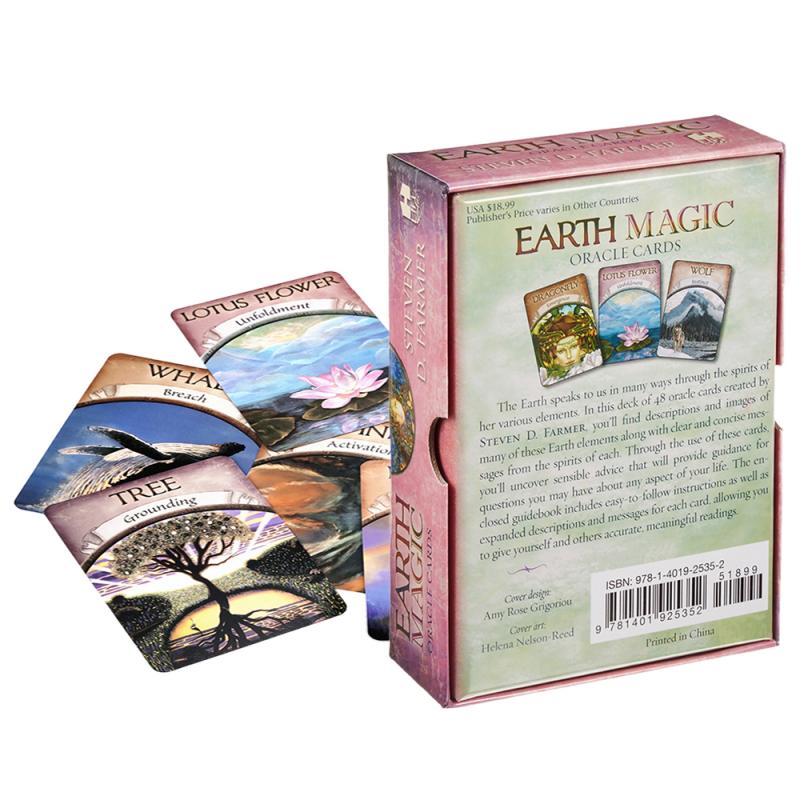 Earth Magic Oracle Cards: A 48-Card Deck And Guidebook By Steven D. Farmer Family Gift Party Playing Card Game Entertainment