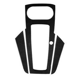 3 sztuk akcesoria do wnętrza samochodu gałka zmiany biegów z włókna węglowego pokrywa deski rozdzielczej tapicerka dla Audi A3 2014-2018