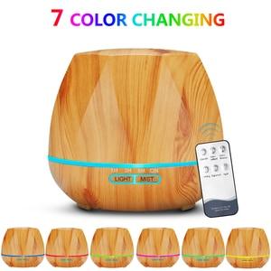 Image 3 - 500ML télécommande humidificateur dair diffuseur dhuile essentielle Humidificador brumisateur LED arôme diffuseur aromathérapie