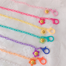 Mask-Chain Strap Necklace Flower-Smily Colorful Women for Glasses Lanyard Face-Cover