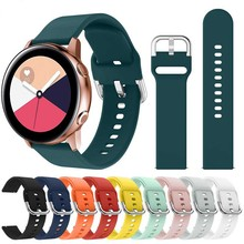 20mm22mmlightSoft Silicone Watchband for Samsung Galaxy Watch Active 42mm Gear S2 Sport Waterproof Women Men Bracelet Band Strap