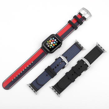 New Silicone Nylon Watch Strap For Apple 5 4 3 2 1 iWatch 38mm 40mm Sports Waterproof Band #E