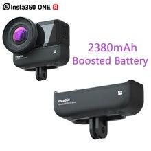 100% orijinal Insta360 bir R güçlendirilmiş pil tabanı 2380mAh çift için yüksek kapasiteli pil Insta360 bir R kamera aksesuarları