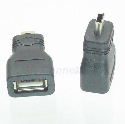 DHL/EMS 100 Sets*USB 2.0 A Female Jack To Mini USB B 5 Pin Male Plug OTG Adapter Connector F/M -C1