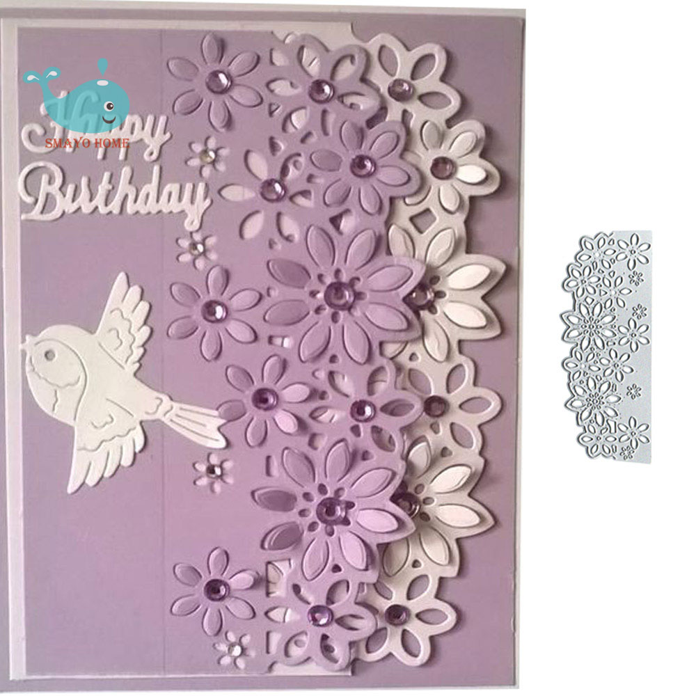 Lace Flower Metal Cutting Dies Scrapbooking Stencil For Album Paper DIY Gift Card Decoration Embossing Dies New 2019