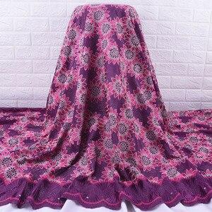 Image 5 - Afrika dantel kumaş 2019 yüksek kalite fransız vual dantel kumaş nakış Floret için nijeryalı kumaş düğün elbisesi parti A1728