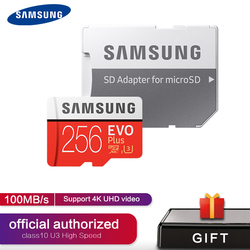SAMSUNG EVO PLUS Memory Card 256GB 512GB High Speed 100MB/S 4K Micro SD Card Class 10 U3 TF Cards UHS-I 128G 64GB 32GB