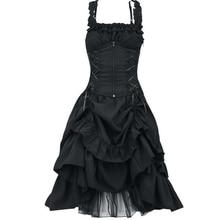 Размера плюс 5XL Для женщин в викторианском стиле готический платье Vestidos ретро дворец Лолиты суд платье принцессы на Хэллоуин в стиле «панк» Косплэй длинное платье