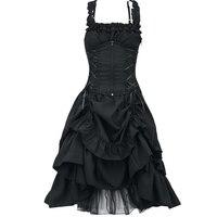 Plus Size 5XL Women Victorian Gothic Dress Vestidos Retro Lolita Palace Court Princess Dress Halloween Punk Cosplay Long Dress