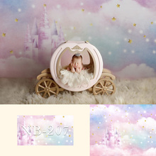 Castle Baby Portrait Photography Backdrop Fairy Tale Newborn Children One Birthday Photo Background for Studio Photograhic free shipping fairy tale digital kids studio photography background backdrop 5x10ft baby children fabric backdrop a 1187