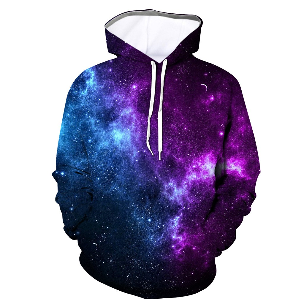 Men Universe 3D Printed Hooded Galaxy Long Sleeve Sweatshirt Hoodie Top Hoodies Streetwear Sudadera Hombre Plus Size Hip Hop 4XL