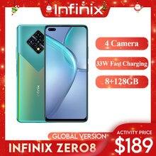 Infinix Zero 8 Celular Versão Global 128 GB 8 GB RAM Octa Core 4 90 hz 6.8