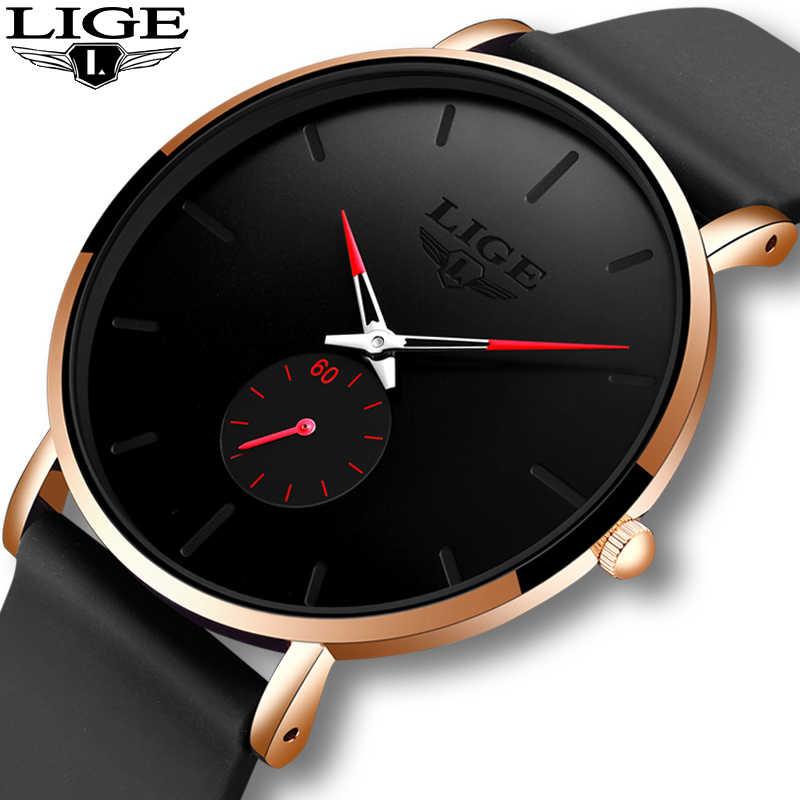LIGE ใหม่ผู้หญิงแบรนด์หรูนาฬิกาควอตซ์กันน้ำนาฬิกาข้อมือหญิงแฟชั่น Casual นาฬิกานาฬิกา reloj mujer 2020