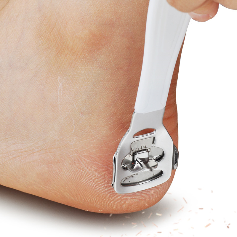 Stainless Steel Foot Dead Skin Planing Tool Professional Scraping Skin Exfoliating Pedicure Knife Care With Blade For Foot Care
