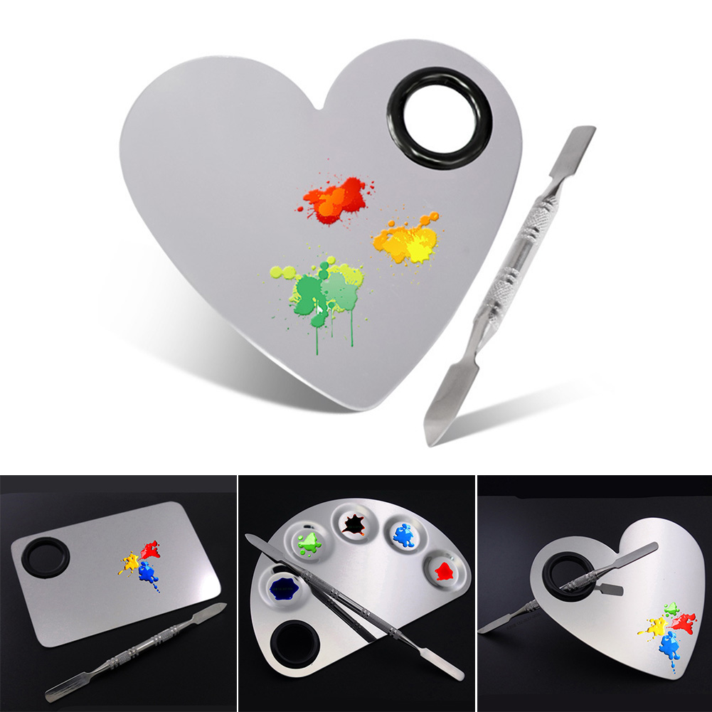 Watercolor Drawing Tools Rod Nail Art School Palette Oil Mixing Spatula Stainless Steel Makeup Paint Art Supplies Painting