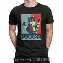 Goose Captain Marvel T Shirt Men 4XL 5XL 6XL fashion clothes Movie Cartoon T-Shirts cotton Purified o Neck Cat Tee Shirt(China)