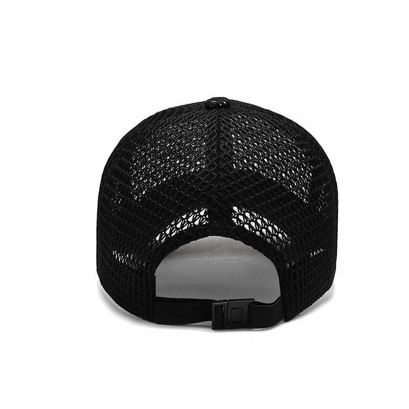 Męskie sporty letnie regulowany Sunhat na świeżym powietrzu szybkiego suszenia tkanin czapka z daszkiem Mesh oddychające stałe kolorowa czapka dla dorosłych
