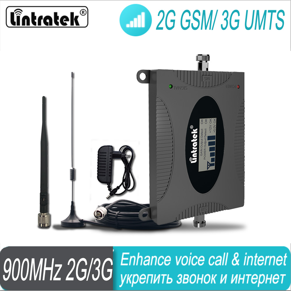 2G 3G Signal Booster Amplifier GSM 900 Mobile Signal Lintratek UMTS Cellphone Cellular Signal Repeater FreeShipping Amplifier