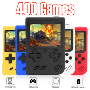 ALLOYSEED Retro Video Game Console 3 inch Color Screen Mini Pocket Handheld Game Player Built-in 400 Classic Games For Kids Gift(China)